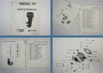 Mercury Merc 70 Parts Manual Spare Parts List 1982
