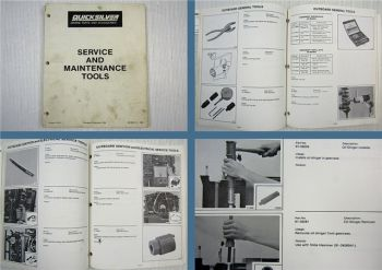 Quicksilver Service and Maintenance Tools Part Numbers 1988