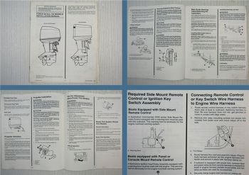 Force Outboards 90 120 150 HP Installation Manual 1993