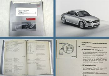 orig. Reparaturanleitung Audi TT 8N ab 1999 Fahrwerk Eigendiagnose