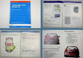 SSP 140 VW Golf 3 1H 1992 Schulungshandbuch Konstruktion Funktion