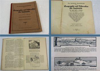 Geographie mit Bilderatlas für Landwirte von Dr. H. Höfer 1922