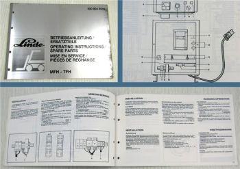 Linde MFH TFH Ladegerät Bedienungsanleitung Ersatzteilliste Parts List Instructi
