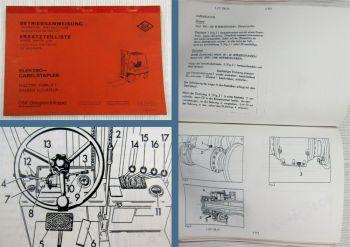 O&K Elektrostapler Betriebsanleitung Wartung Allgemeine Bedienungsanleitung