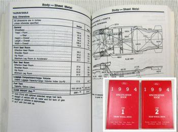 Ford 1994 Specification Book Aspire Escort Tracer Thunderbird Mark VIII Mustang
