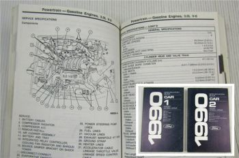 Ford 1990 Specification Book Festiva Tracer Continental Lincoln Town Car Mustang