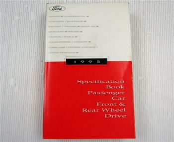 Ford 1995 Specification Book Aspire Grand Marquis Thunderbird Cougar Mystique