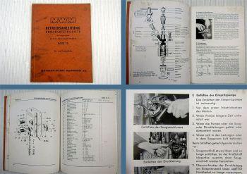 MWM AKD 12 Betriebsanleitung & Ersatzteilliste 1954