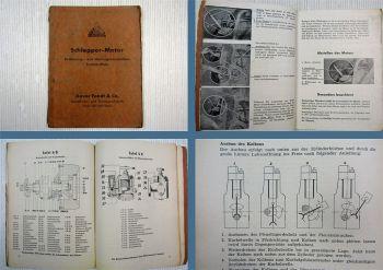 Fendt Dieselross KDWF 415 Schlepper Motor Bedienung Wartung 1951