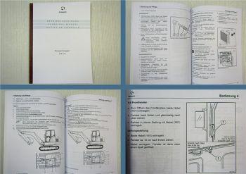 Schaeff HR 18 Raupenbagger Betriebsanleitung 1999