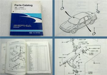 Kia Sephia B6 MMO Parts Catalog Engine Chassis Body ab 1995 Ersatzteilliste