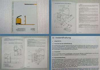 Jungheinrich ERE KmS 20 Betriebsanleitung Operation instructions 1988