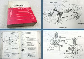 Toyota Supra JZA80  Repair manual for chassis and body 1993