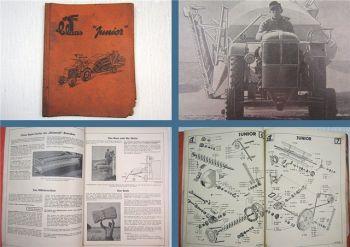 Claas Junior + Strohpresse Gebrauchsanleitung u. Ersatzteilliste 1950er
