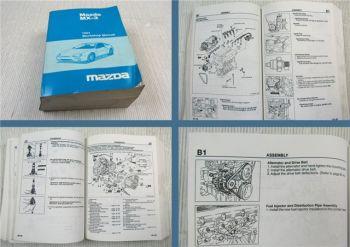 Mazda MX-3 MX3 EC Workshop Manual Service Manual 1994 engine B6 / K8 DOHC