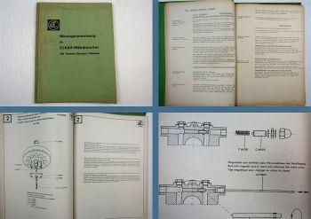 Claas SFB Matador Standart Mähdrescher Montageanweisung ca. 1960 / 1970