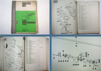 Claas Maispflückvorsatz 5 Reihen Ersatzteilliste Ersatzteilkatalog 1975