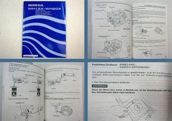Honda WH15X WH20X Wasserpumpe Bedienungsanleitung 1994