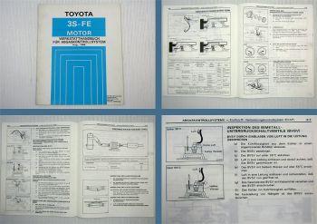 Toyota Camry SV21 3S-FE Motor Abgaskontrollsystem Werkstatthandbuch 1986