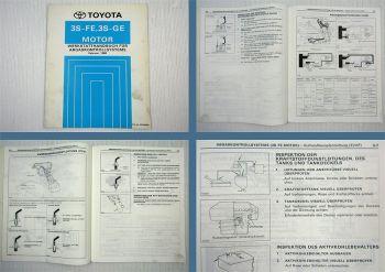 Toyota Carina E ST191 Motor 3S-FE 3S-GE Abgaskontrollsystem Werkstatthandbuch
