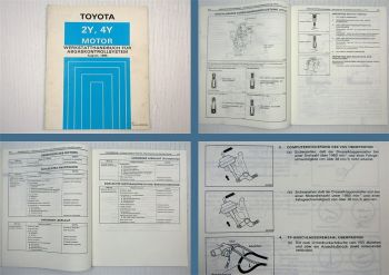 Toyota 2Y 4Y Abgaskontrollsystem Werkstatthandbuch Hilux YN85 - YN110 1988