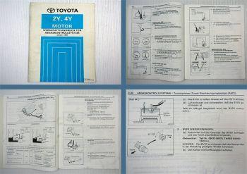 Toyota 2Y 4Y Abgaskontrollsystem Werkstatthandbuch Hilux YN85 - YN110 1990