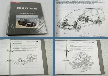 Honda Shuttle RA1 Schulungshandbuch Technik Daten Kundendienst Service 1994