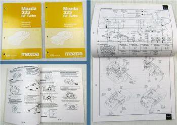 Mazda 323 RF Turbo Ergänzung Werkstatthandbuch Reparaturanleitung Stromlaufpläne