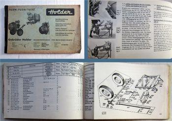 Holder TU3N TU3A TU3Z Betriebsanleitung Ersatzteilliste 1964