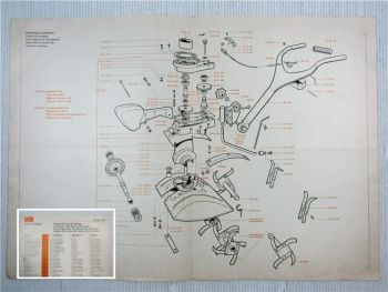 Solo Combi Hacke 533 Ersatzteilliste Spare Part List 1970