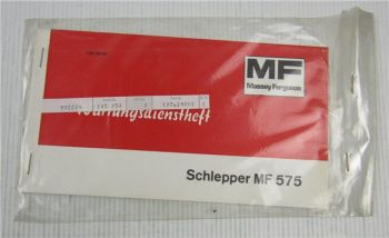 Massey Ferguson MF575 Schlepper Wartungsdienstheft Wartungsheft Scheckheft