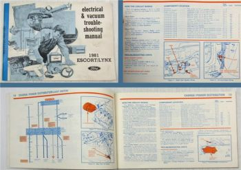 Ford Electrical & Vacuum Troubleshooting Manual 1981 Escort Lynx