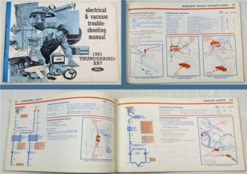 Ford Electrical & Vacuum Troubleshooting Manual 1981 Thunderbird XR7