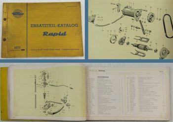 Tempo Rapid Transporter Ersatzteilkatalog Ersatzteilliste 11/1958
