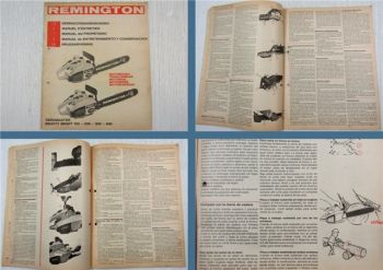 Remington Yardmaster Mighty Might 100 200 300 400 Bedienung Betriebsanleitung