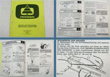 Al-Ko Pioneer  Motor Kettensäge Bedienungsanleitung Betriebsanleitung