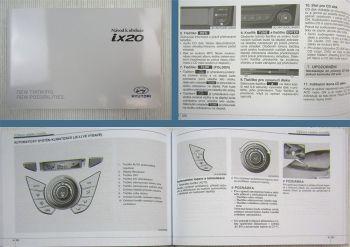 Hyundai ix20 návod k obsluze údržba technické údaje 2010