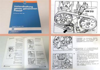 Werkstatthandbuch VW Passat B2 32B 1986-88 Instandhaltung genau genommen 1990
