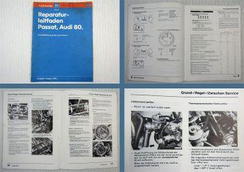 Werkstatthandbuch VW Passat B1 Audi 80 1973 - 1980 Instandhaltung genau genommen