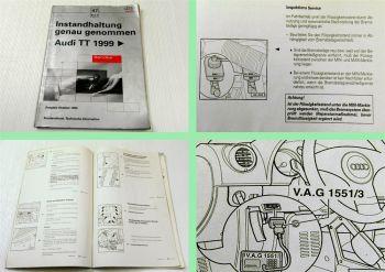 Reparaturleitfadeh Audi TT 8N ab 1999 Instandhaltung genau genommen AJQ APP APX