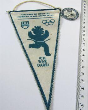 Abzeichen Wimpel DDR FDJ Treffen junger Sozialisten Fest der Jugend 1969