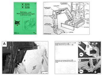 Bobcat X325 X328 Bagger Betriebsanleitung & Wartung