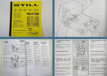 STILL R07 R08 Gabelstapler Wartungsanleitung für die Werkstatt 1987