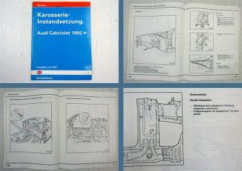 Reparaturanleitung Audi Cabriolet Typ 89 Karosserie Instandsetzung ab 1992