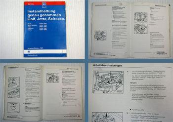 Werkstatthandbuch VW Golf 1 Golf Cabriolet Scirocco Instandhaltung bis 1983 1985