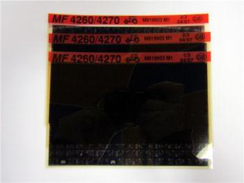 Massey Ferguson MF 4260 4270 Ersatzteilliste Microfich 04/1997