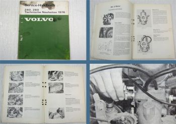Volvo 242 244 245 264 265 1976 Technische Neuheiten Wartung Werkstatthandbuch