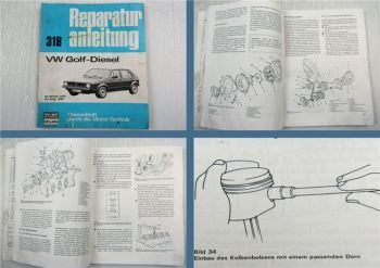 VW Golf I 1.5 l Diesel ab 1976 bis Sept. 1980 Reparaturanleitung Bd. 318