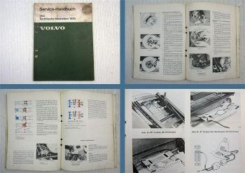 Volvo 264 1975 Technische Neuheiten Wartung Daten Werkstatthandbuch