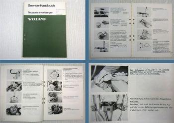 Werkstatthandbuch Volvo 240 242 244 245 Motor B21A B21E Reparaturanleitung 1974